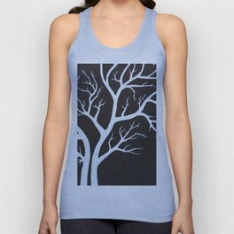 Autumn Branches Stylistic Tree Limbs Unisex Tank Top