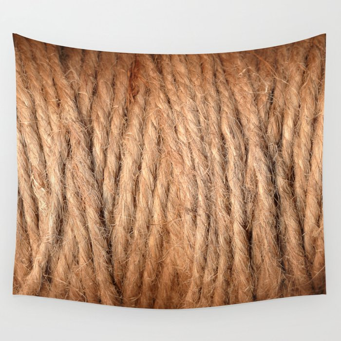 Brown Yarn Threads Wall Tapestry