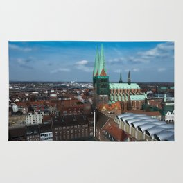 Church in the city Lübeck Germany Rug
