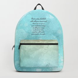 Proverbs 3:5-6, Encouraging Bible Quote Backpack