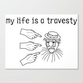travesty Canvas Print