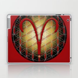 Flower of Life ARIES Astrology Design Laptop & iPad Skin