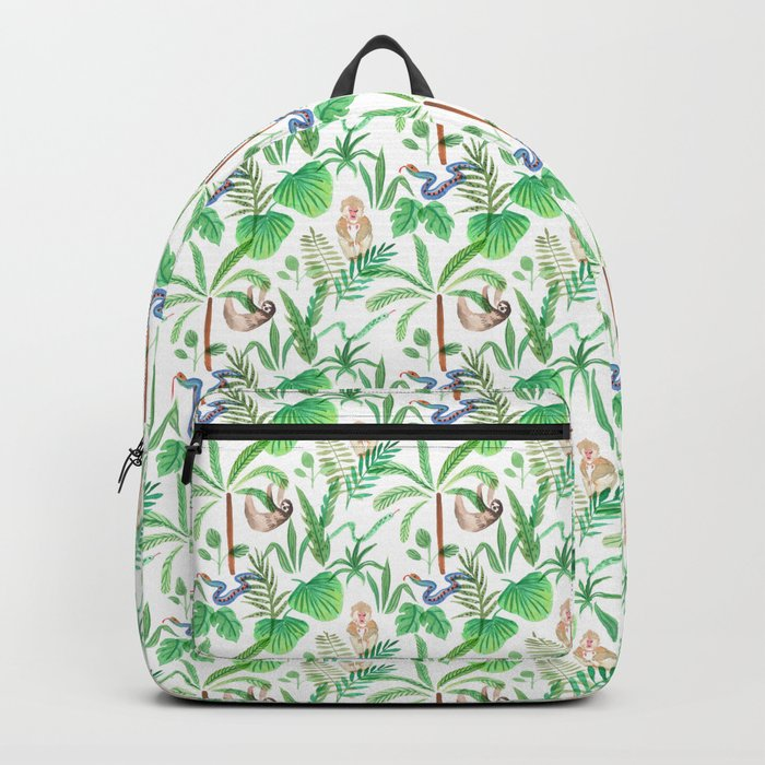 jungle lifestyle pattern Backpack