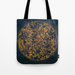 Vintage Constellations & Astrological Signs   Purple Galaxy Tote Bag