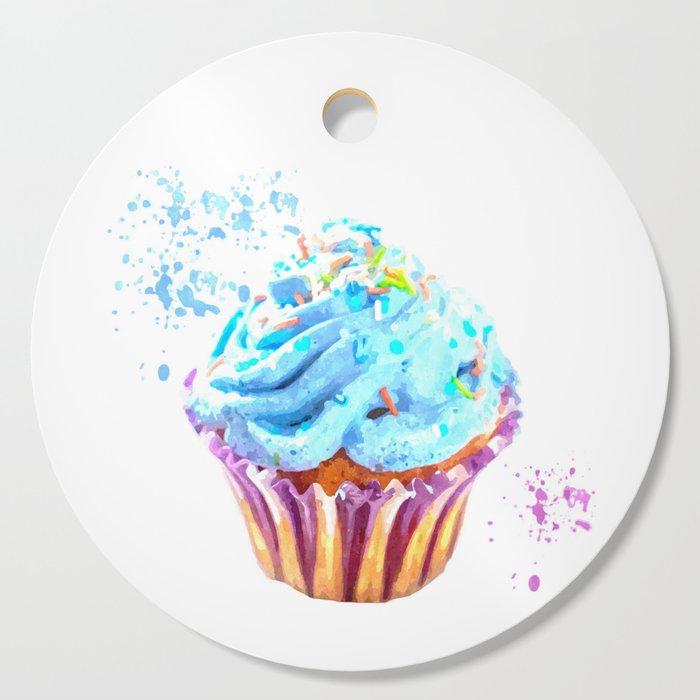 Cupcake watercolor illustration Cutting Board