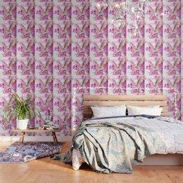 HORSE PINK FANTASY CHERRY BLOSSOMS Wallpaper