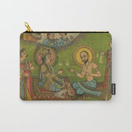 Vintage Indian Label Carry-All Pouch