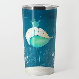 Little prince with a green crown Travel Mug