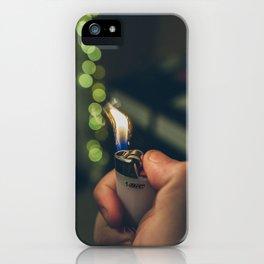 White Lighter iPhone Case