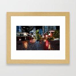 Nightlife in Seattle Framed Art Print
