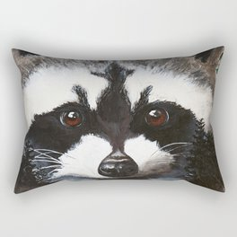 Raccoon - Charley - by LiliFlore Rectangular Pillow