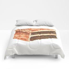 Chocolate Cake Slice Comforters