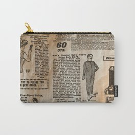 Old Vintage Advertising Carry-All Pouch