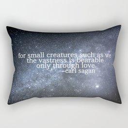Carl Sagan and the Milky Way Rectangular Pillow