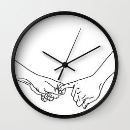 holding on for dear life Wall Clock