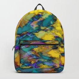 Interlocking ghosts yellow Backpack