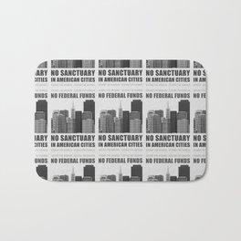 No Sanctuary Cities Bath Mat