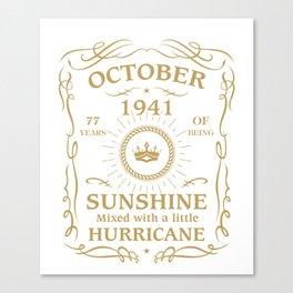 October 1941 Sunshine mixed Hurricane Canvas Print