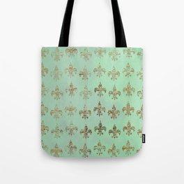 Verdigris Fleur-de-lis Tote Bag