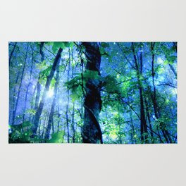 Forest of the Fairies Blue Night Rug