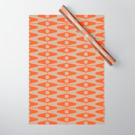 abstract eyes pattern orange tan Wrapping Paper