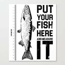 Amazing fish-sized t-shirt ideal for big fisherman Canvas Print