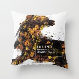 Hufflepuff Nature Throw Pillow