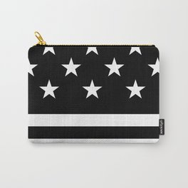 US Flag (Black/White) Carry-All Pouch