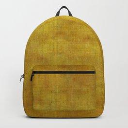 """""""Gold & Ocher Burlap Texture"""" Backpack"""