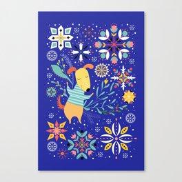 Happy Dog Year Canvas Print