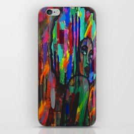 Afro babe iPhone Skin
