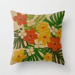 Limahuli Garden Hawaiian Floral Design Throw Pillow