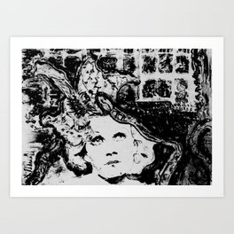 Jean Harlow among Snakes Art Print