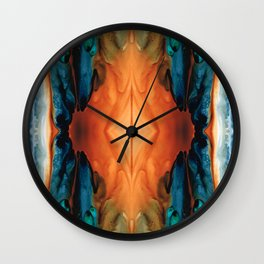 The Great Spirit - Abstract Art By Sharon Cummings Wall Clock