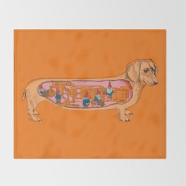 Secrets of the Dachshund  Throw Blanket
