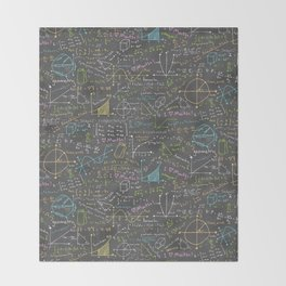 Math Lessons Throw Blanket