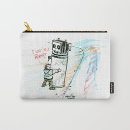 """""""I Wuv you Robot"""" Carry-All Pouch"""