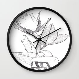Every Rose Has It's Thorns Wall Clock