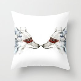 Twin Coyotes Throw Pillow