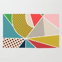 color segments 002 Rug