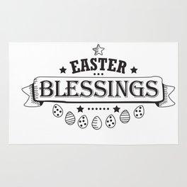 Easter Blessings Black Design Holiday Gift Cute Women Men Rug