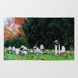 Family of Mushrooms Rug