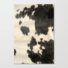 Black & White Cow Hide Canvas Print