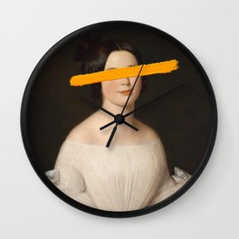 Portrait of a Woman - Paint Stroke Wall Clock