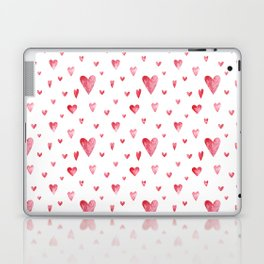 Watercolor print with hearts Laptop & iPad Skin