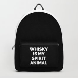 Whisky Spirit Animal Funny Quote Backpack