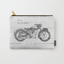 Vintage Triumph Thunderbird Motorcycle Carry-All Pouch