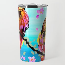 2 Owls on a branch Travel Mug