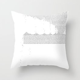 Erosion & Typography 3 Throw Pillow