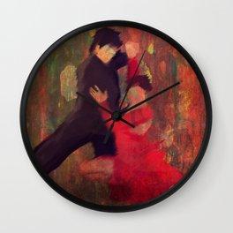 Tango de Fuego/Fire Tango Wall Clock